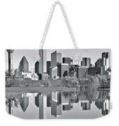 Charcoal Big D Reflection Weekender Tote Bag