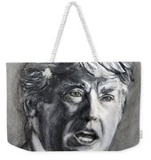 Charcoal Portrait Of The Donald Weekender Tote Bag