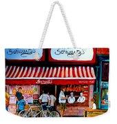 Charcuterie Schwartz's Deli Montreal Weekender Tote Bag