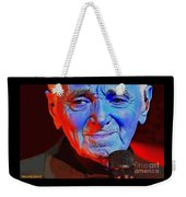Charles Aznavour Weekender Tote Bag