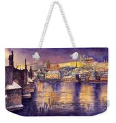 Charles Bridge And Prague Castle With The Vltava River Weekender Tote Bag