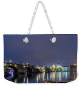 Charles Bridge At Night Weekender Tote Bag
