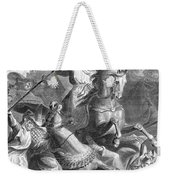 Charles Martel, Battle Of Tours, 732 Weekender Tote Bag by Photo Researchers