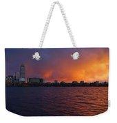 Charles River Vibrant Sunset Boston Ma Weekender Tote Bag