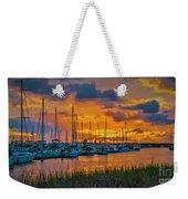 Charleston Marina Sunset  Weekender Tote Bag
