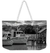 Charleston Star In Monochrome Weekender Tote Bag