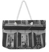 Charleston Style Home Black And White Weekender Tote Bag