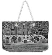 Charleston Waterfront Park Fountain Black And White Weekender Tote Bag