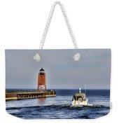 Charlevoix South Pier Light Weekender Tote Bag