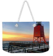 Charlevoix South Pier Lightstation Weekender Tote Bag