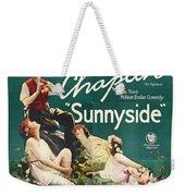 Charlie Chaplin In Sunnyside 1919 Weekender Tote Bag