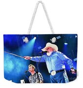 Charlie Daniels On Stage Weekender Tote Bag