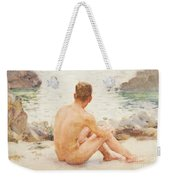 Charlie Seated On The Sand Weekender Tote Bag