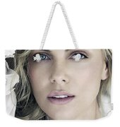 Charlize Theron Blue Eyed Blonde Blouse Celebrity Hollywood 31116 640x960 Weekender Tote Bag