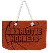 Charlotte Hornets Leather Art Weekender Tote Bag