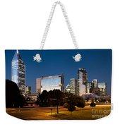Charlotte North Carolina Skyline At Dusk Weekender Tote Bag