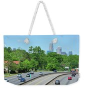 Charlotte Skyline From A Distance Weekender Tote Bag