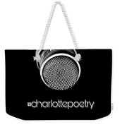 #charlottepoetry Photo Poster Art Weekender Tote Bag