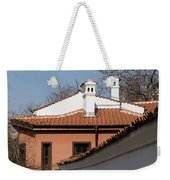 Charming Chimneys - White Stucco And Terracotta Juxtaposition Weekender Tote Bag