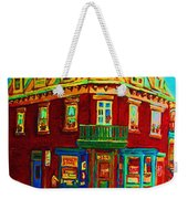 Charming Store  On The Corner Weekender Tote Bag