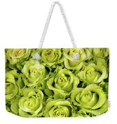 Chartreuse Colored Roses Weekender Tote Bag