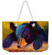 Chasing Bugs - Black Bear Cub Weekender Tote Bag