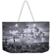Chasing Clouds Again In Black And White  Weekender Tote Bag