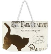 Chat Noir Paris Weekender Tote Bag