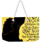 Chat Noir Vintage Weekender Tote Bag