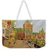 Chateau Frontenac Promenade Quebec City By Prankearts Weekender Tote Bag