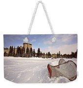 Chateau Lake Louise In Winter In Alberta Canada Weekender Tote Bag