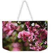Chateau Rose Pink Flowering Crepe Myrtle  Weekender Tote Bag