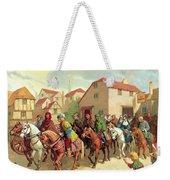 Chaucer's Pilgrims Weekender Tote Bag by van der Syde