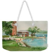Chautauqua Bell Tower And Beach Weekender Tote Bag