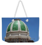 Chaves County Courthouse Green Terracotta Dome Weekender Tote Bag