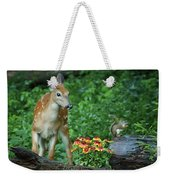 Checking Out The Squirrel Weekender Tote Bag