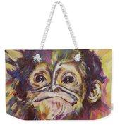 Cheeky Lil' Monkey Weekender Tote Bag