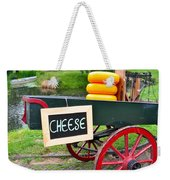 Cheese On A Wagon Weekender Tote Bag