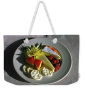 Cheese Wedges With Crackers And Fruit Weekender Tote Bag