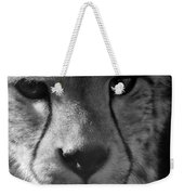Cheetah Black And White Weekender Tote Bag