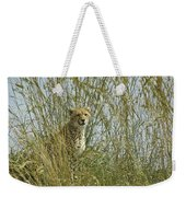 Cheetah Cub In Grass Weekender Tote Bag