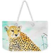 Cheetah Family Weekender Tote Bag