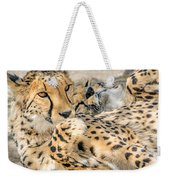 Cheetah Lounge Cats Weekender Tote Bag