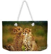 Cheetah Siblings Weekender Tote Bag