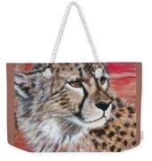 Blaa Kattproduksjoner       Cheetahs Face Weekender Tote Bag