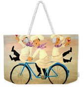 Chefs On A Bike Weekender Tote Bag