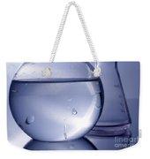 Chemistry Beakers Blue Weekender Tote Bag