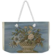Chenille Embroidery Weekender Tote Bag