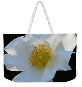 Cherokee Rose On Black Weekender Tote Bag