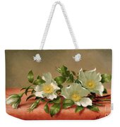 Cherokee Roses Weekender Tote Bag by Martin Johnson Heade